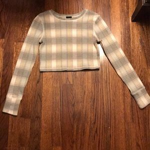 Urban Outfitters patterned crop top